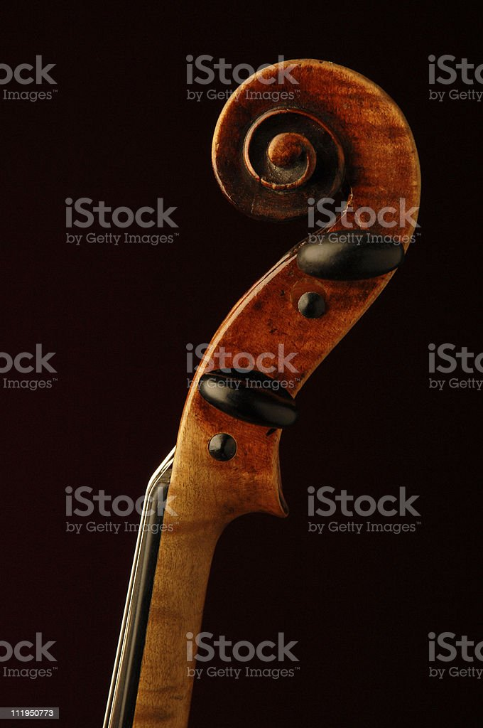 Antique French Violin on Black royalty-free stock photo