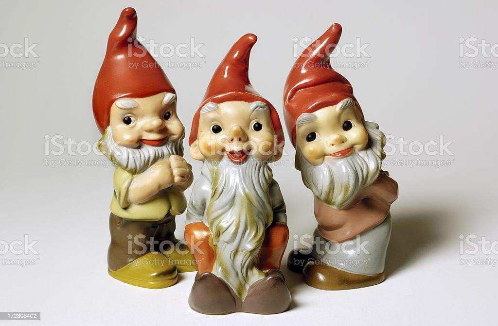 Antique Garden Gnomes stock photo