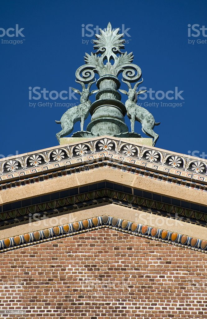 Antique Gargoyle Art Museum stock photo