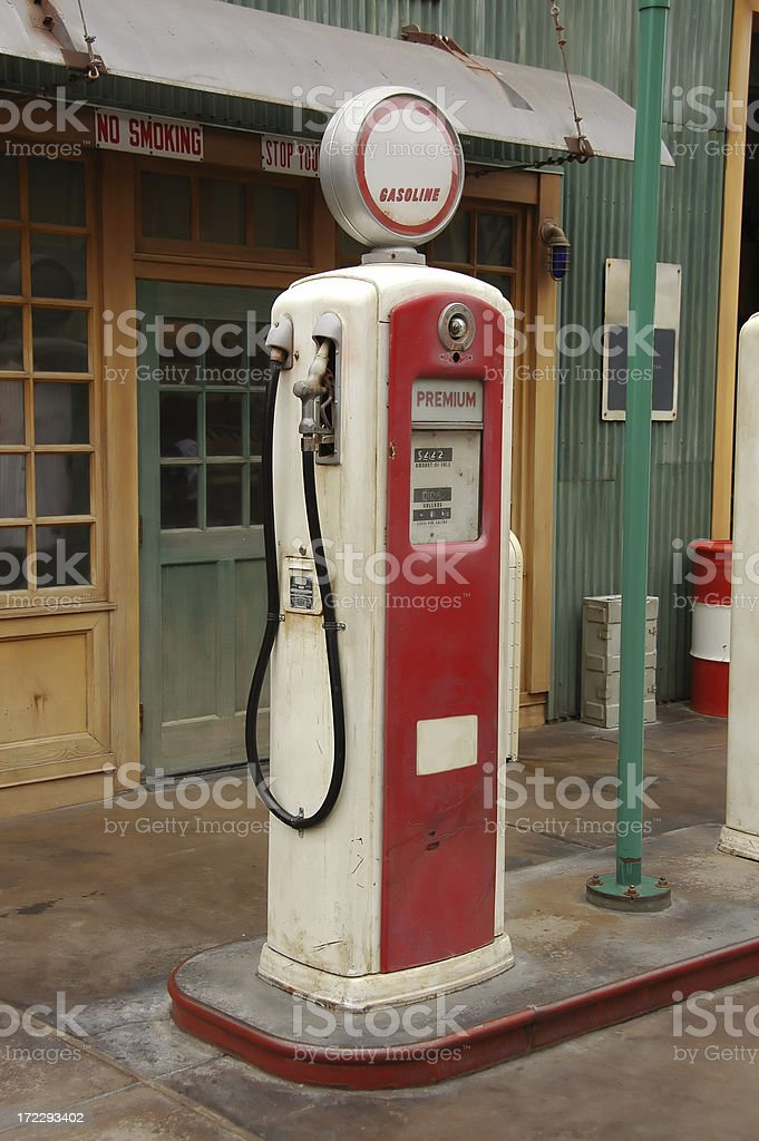 antique gas pump royalty-free stock photo