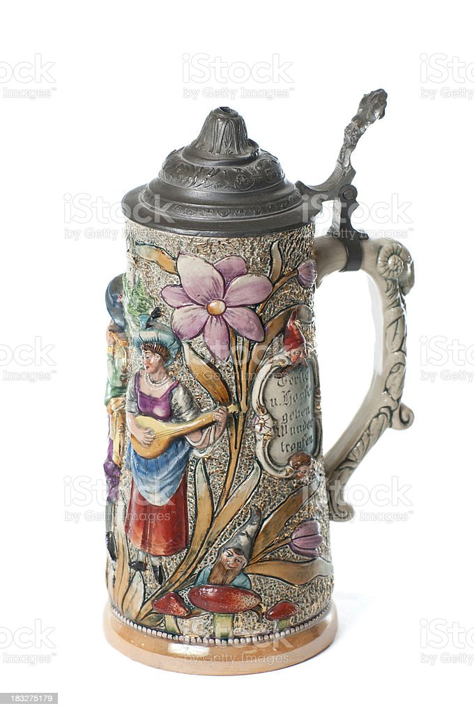 Antique German Beer Stein royalty-free stock photo