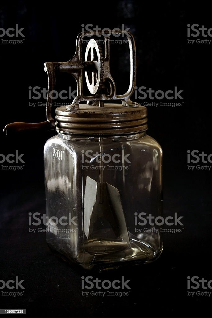antique glass butter churn royalty-free stock photo