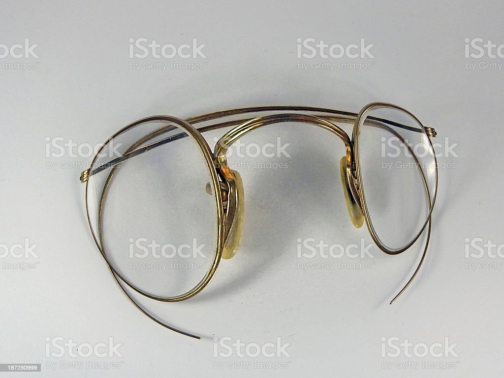 Antique Glasse with Fisheye royalty-free stock photo