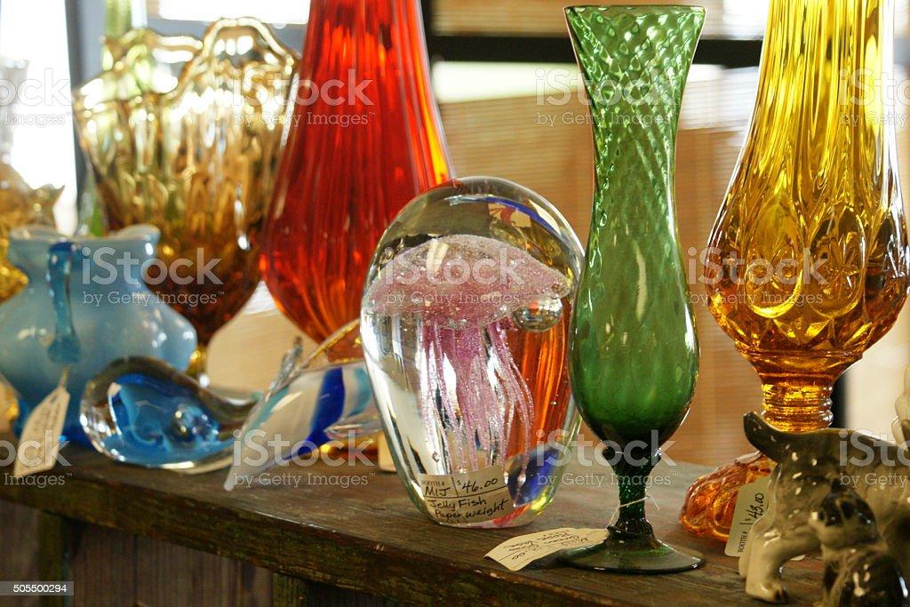 Antique Glassware stock photo