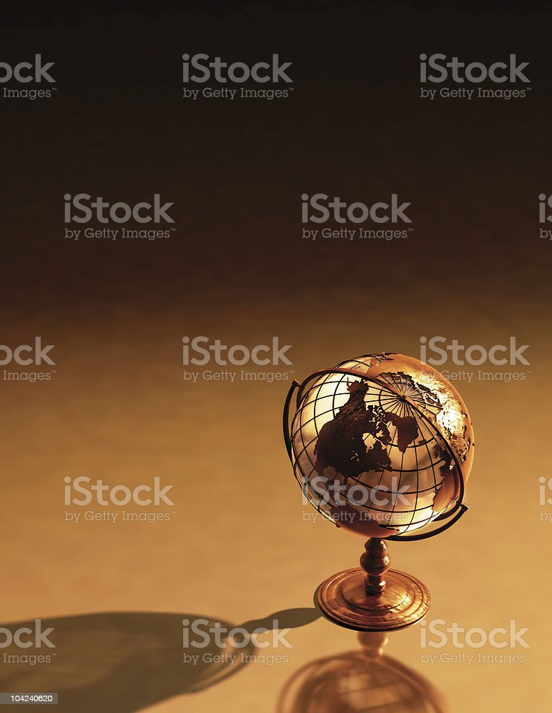 Antique Globe Background stock photo
