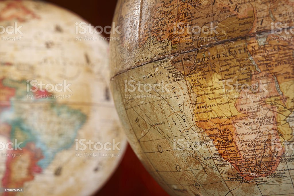 Antique globes royalty-free stock photo