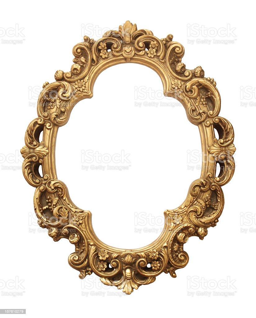 Antique gold frame stock photo