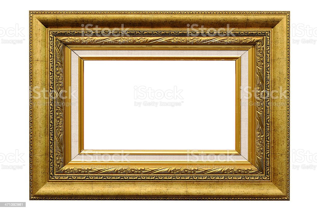Antique gold frame royalty-free stock photo