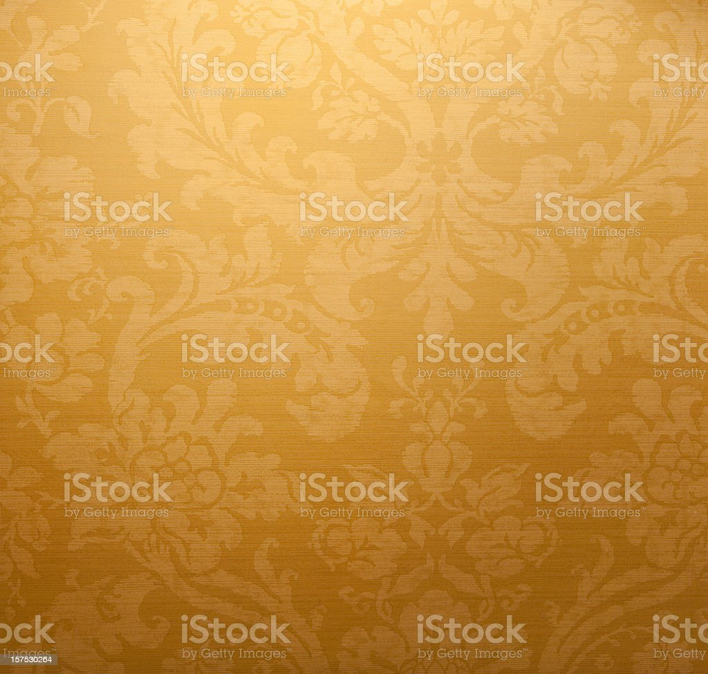 Antique Gold Paper Wall stock photo
