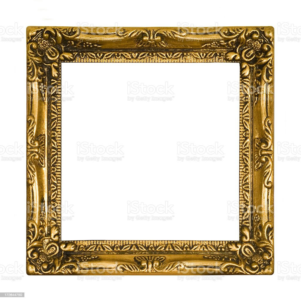 Antique Gold Picture Frame - Square stock photo
