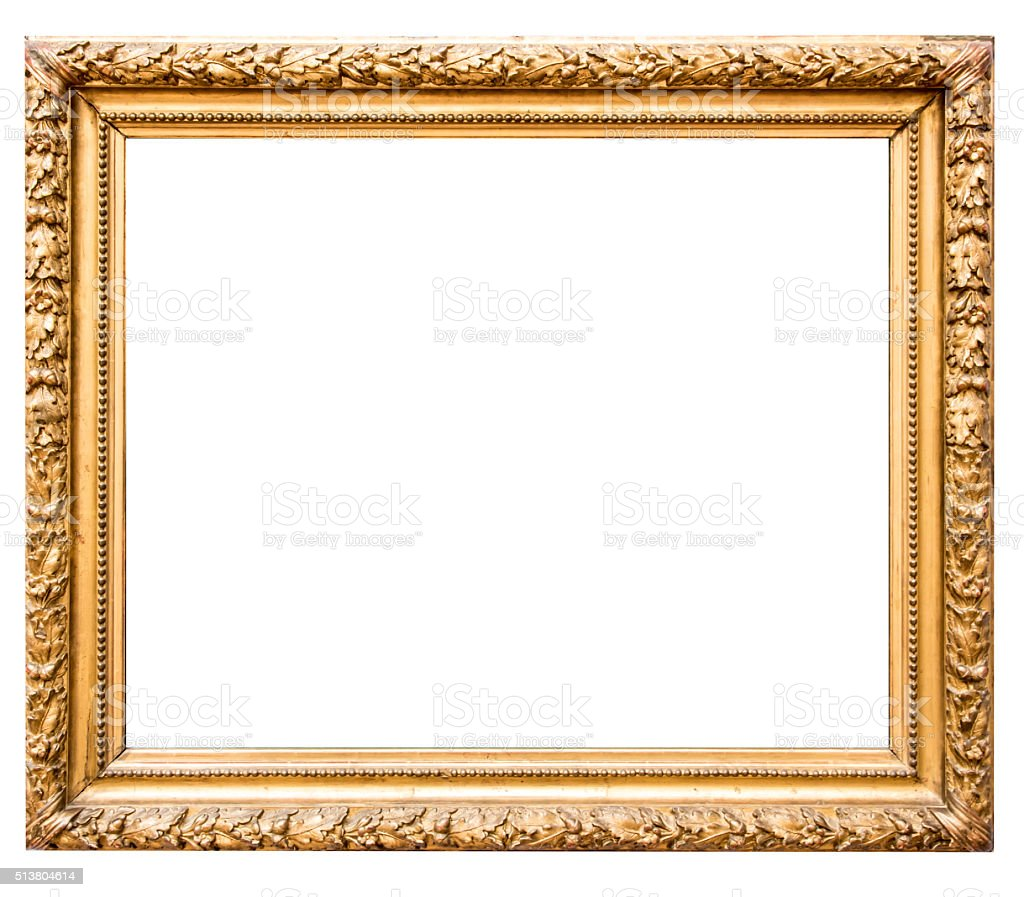 Antique Gold Picture Frame XXXL stock photo