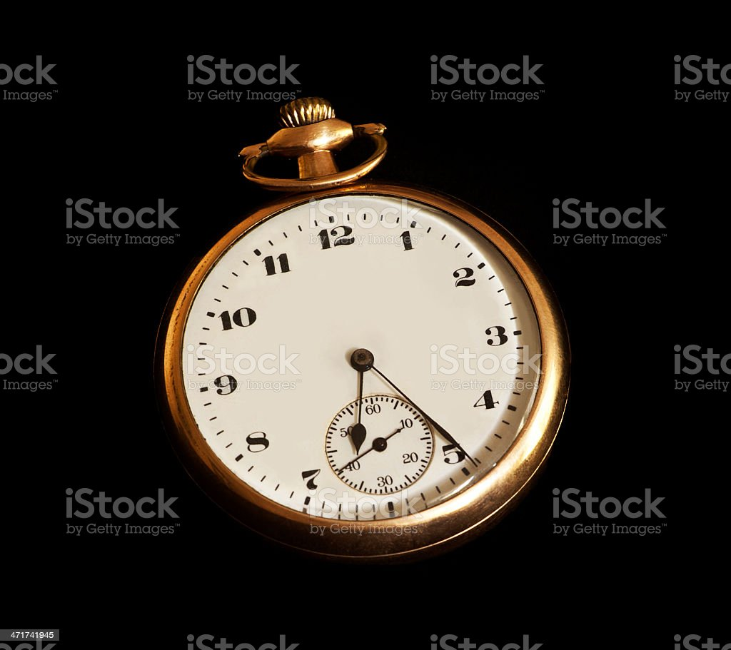 Antique Gold Pocket Watch royalty-free stock photo