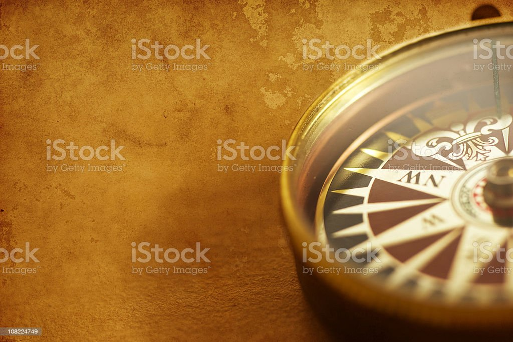 Antique Golden Compass royalty-free stock photo