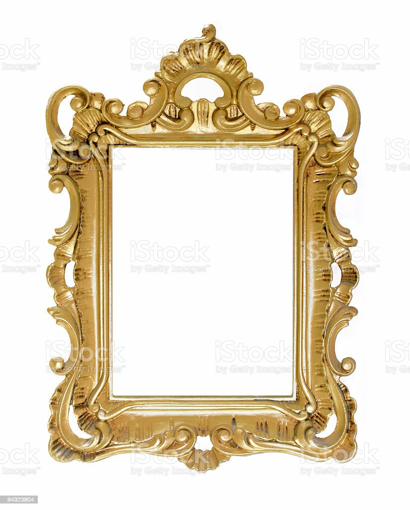 Antique Golden frame royalty-free stock photo