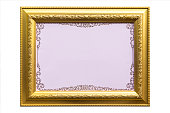 Antique golden frame with empty space for your design.