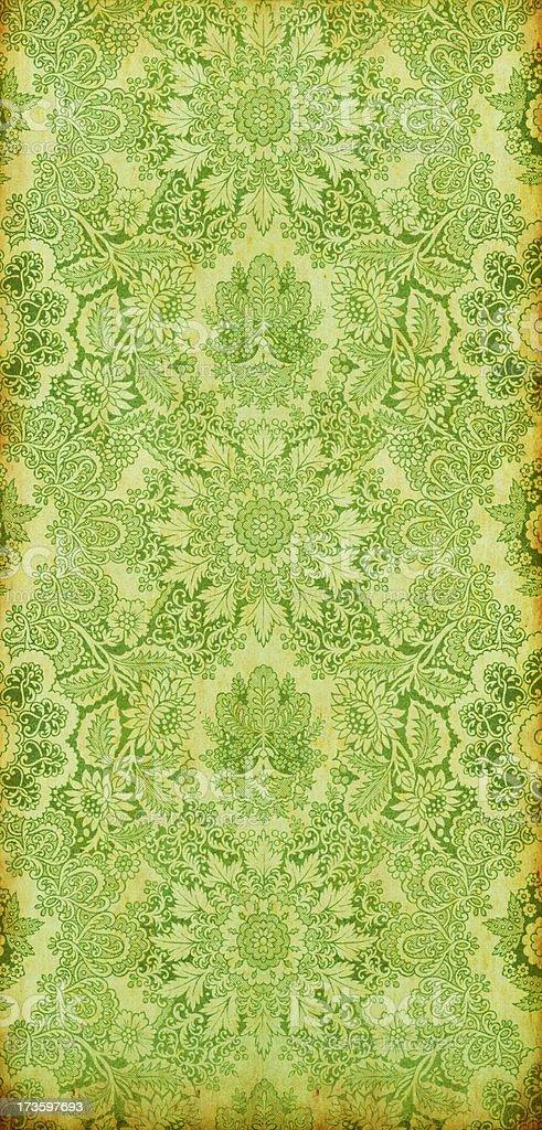 Antique Green Textile royalty-free stock photo