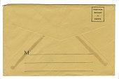 Antique Grunge Envelope Back