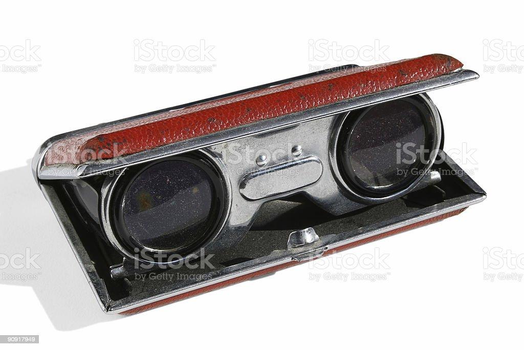 Antique Grungy Binoculars stock photo