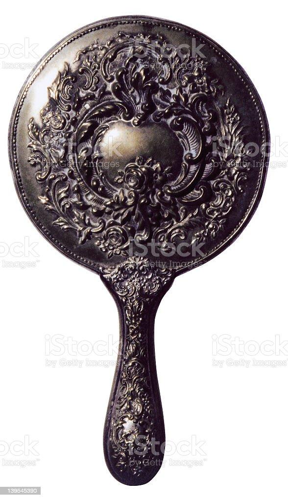 Antique Hand Mirror royalty-free stock photo