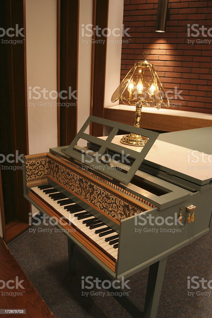 Antique Harpsichord royalty-free stock photo