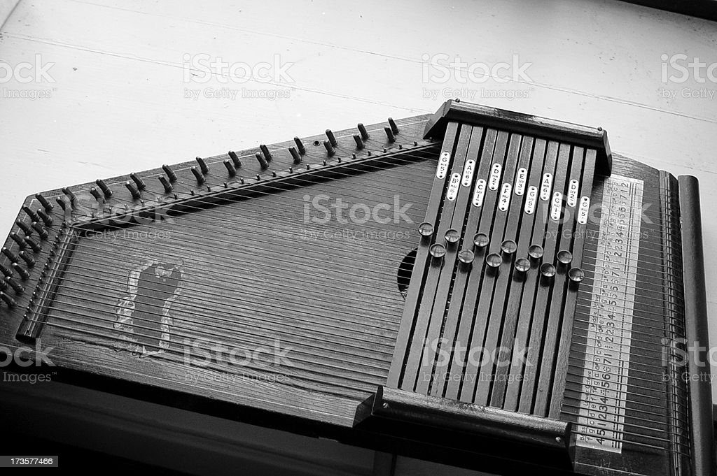 Antique Harpsichord stock photo