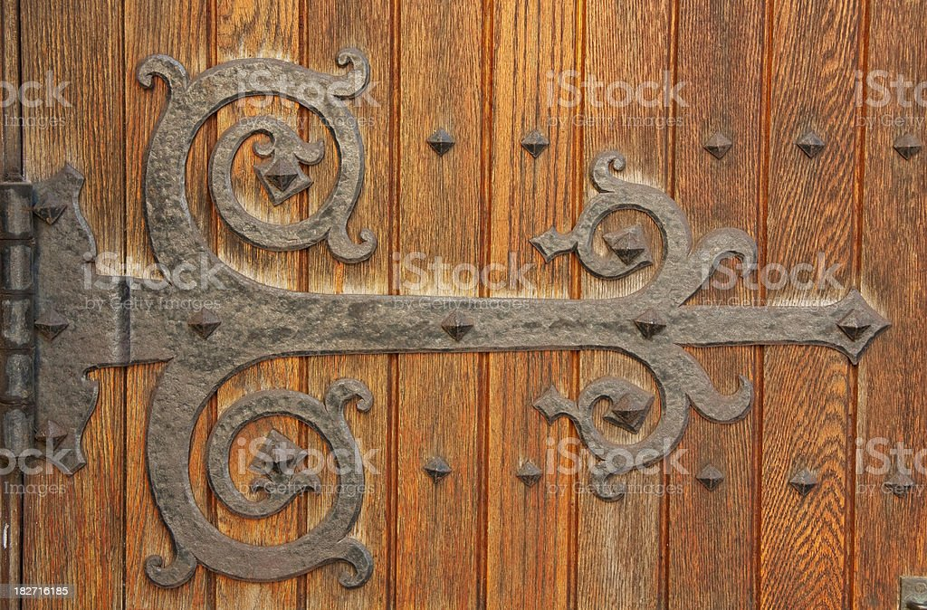 Antique Hinge and Doorway royalty-free stock photo