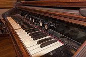 Antique historical piano