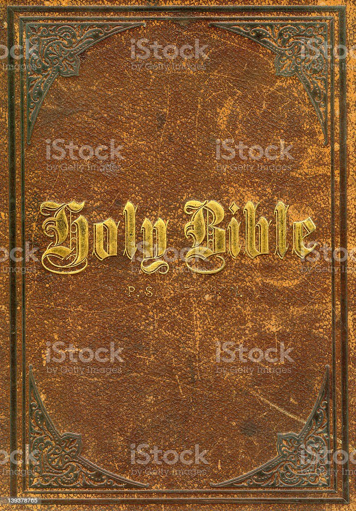 Antique Holy Bible from the 1800s royalty-free stock photo