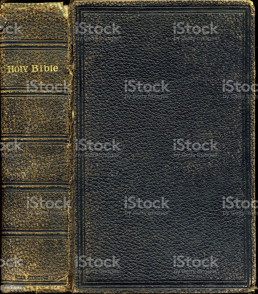 antique holy bible stock photo