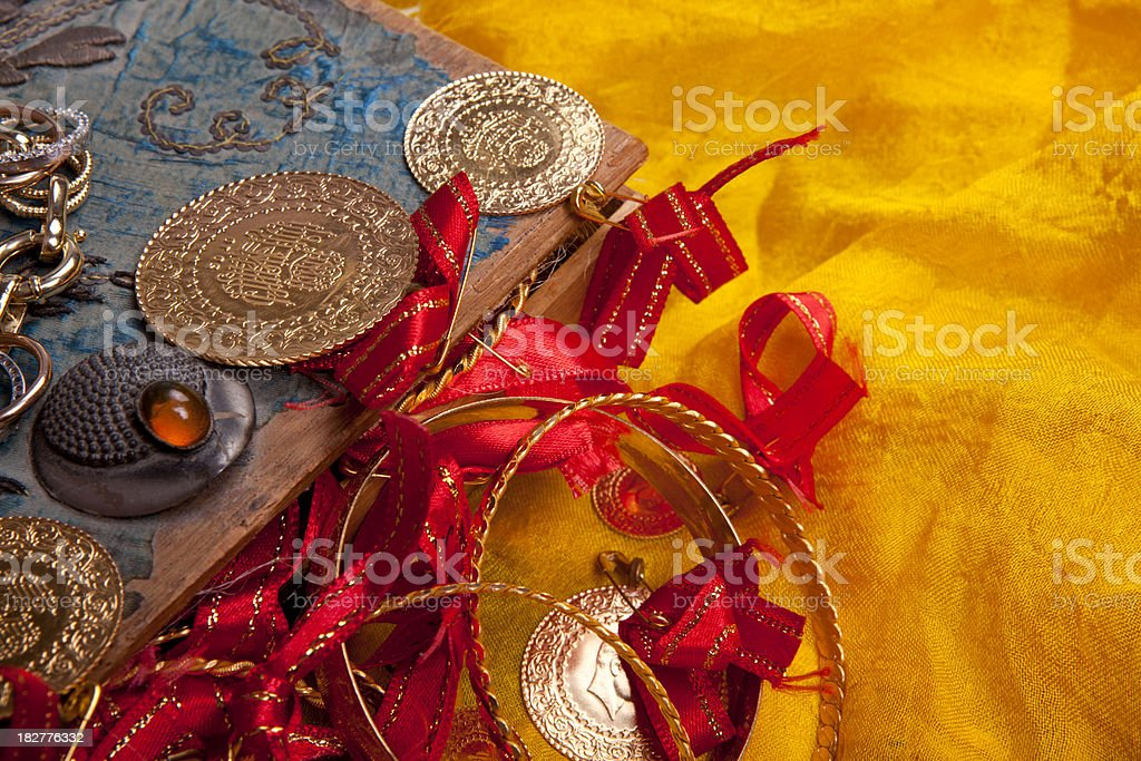 Antique home made box cover royalty-free stock photo
