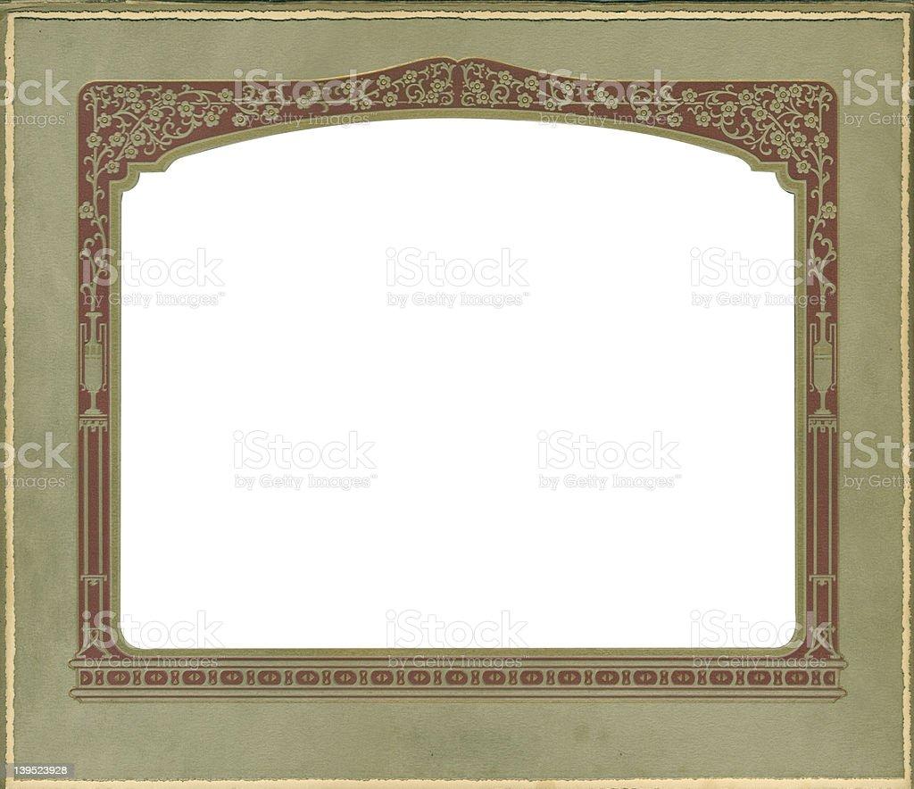Antique horizontal frame w/flower&urn border royalty-free stock photo