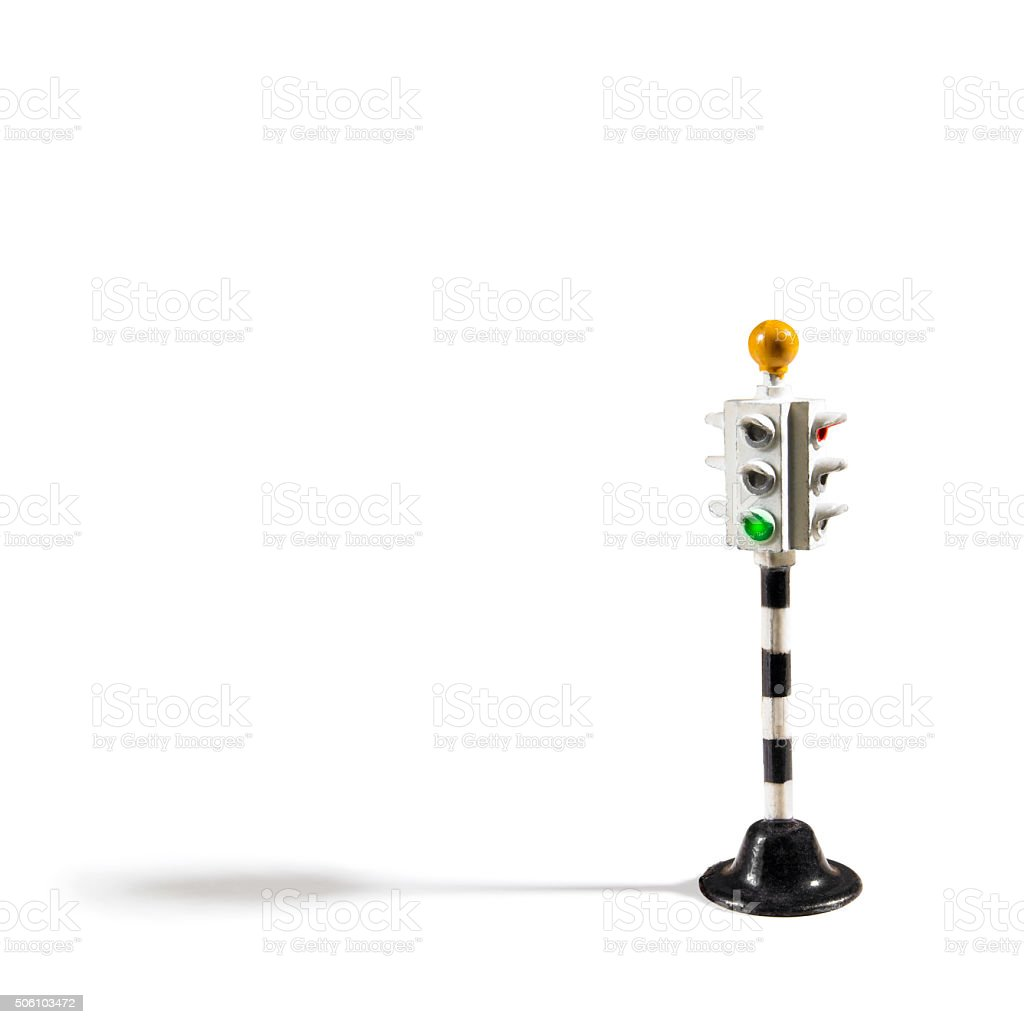 Antique Hornby toy traffic light stock photo