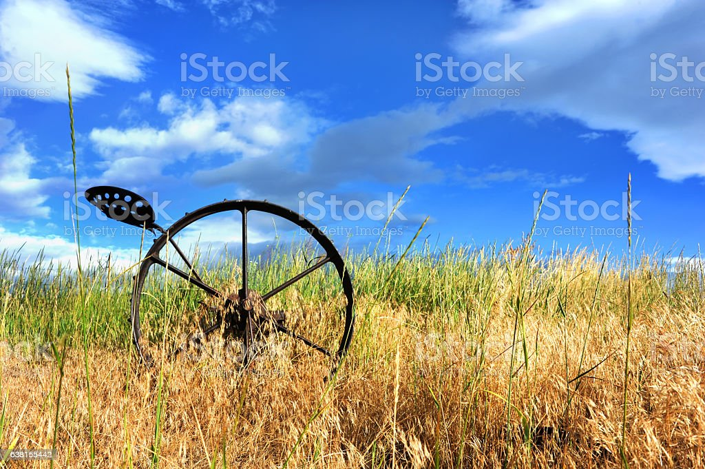 Antique Horse Drawn Plow stock photo