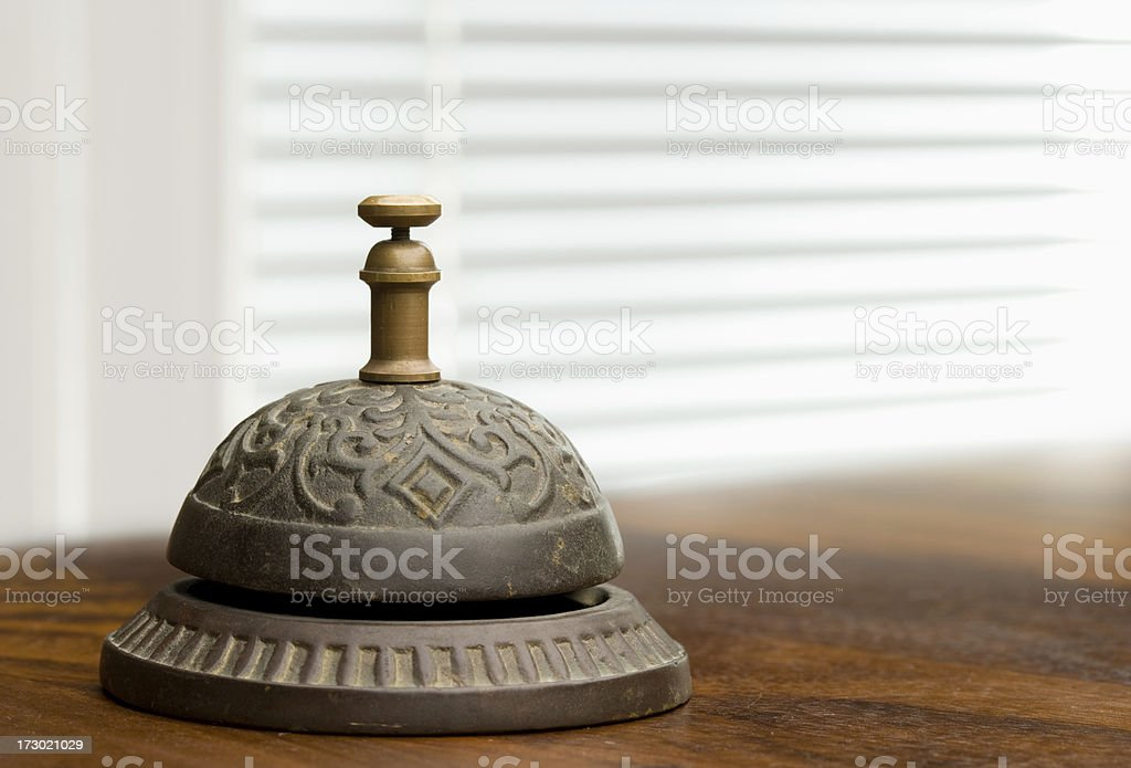 Antique Hotel bellhop bell royalty-free stock photo