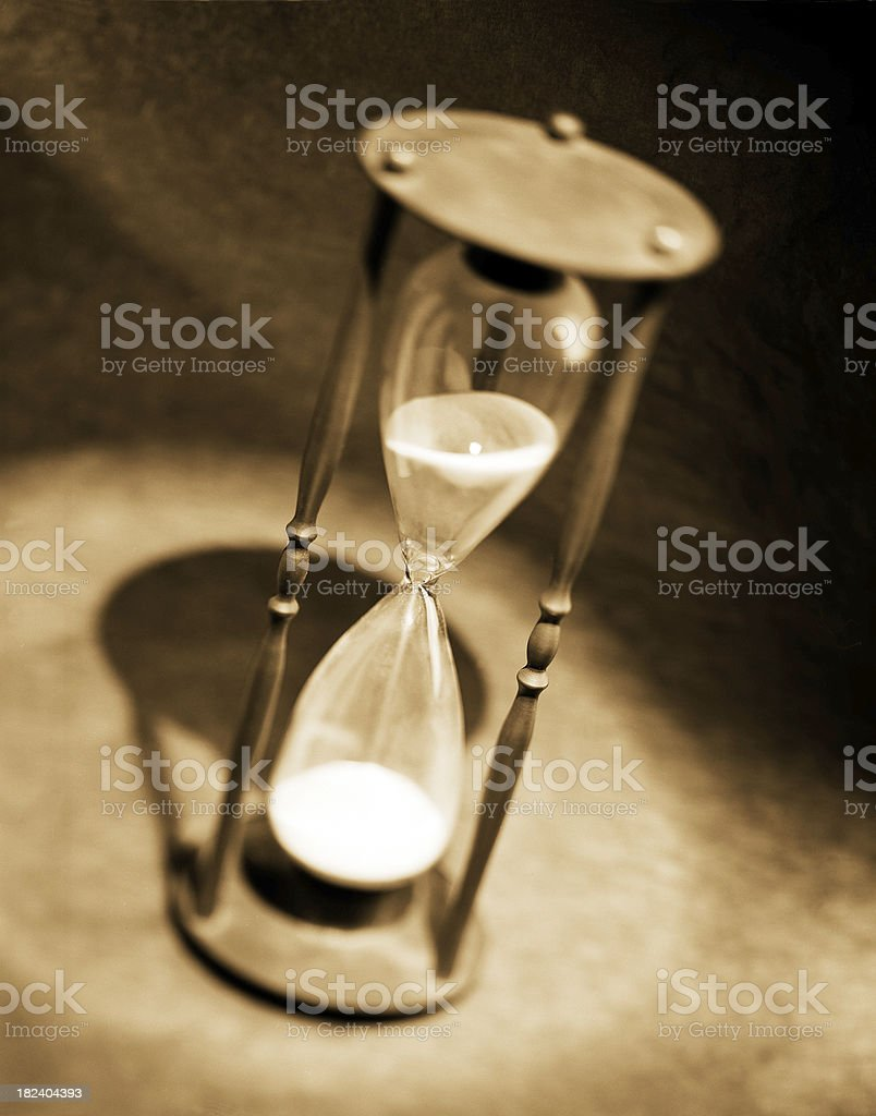 Antique Hourglass royalty-free stock photo