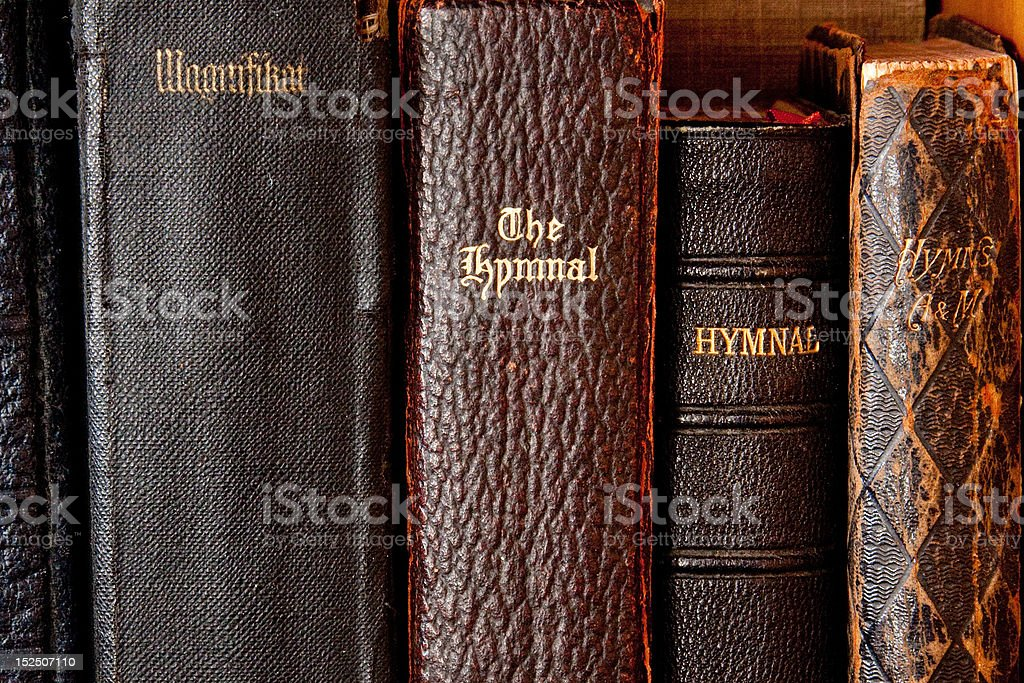 Antique Hymnals stock photo