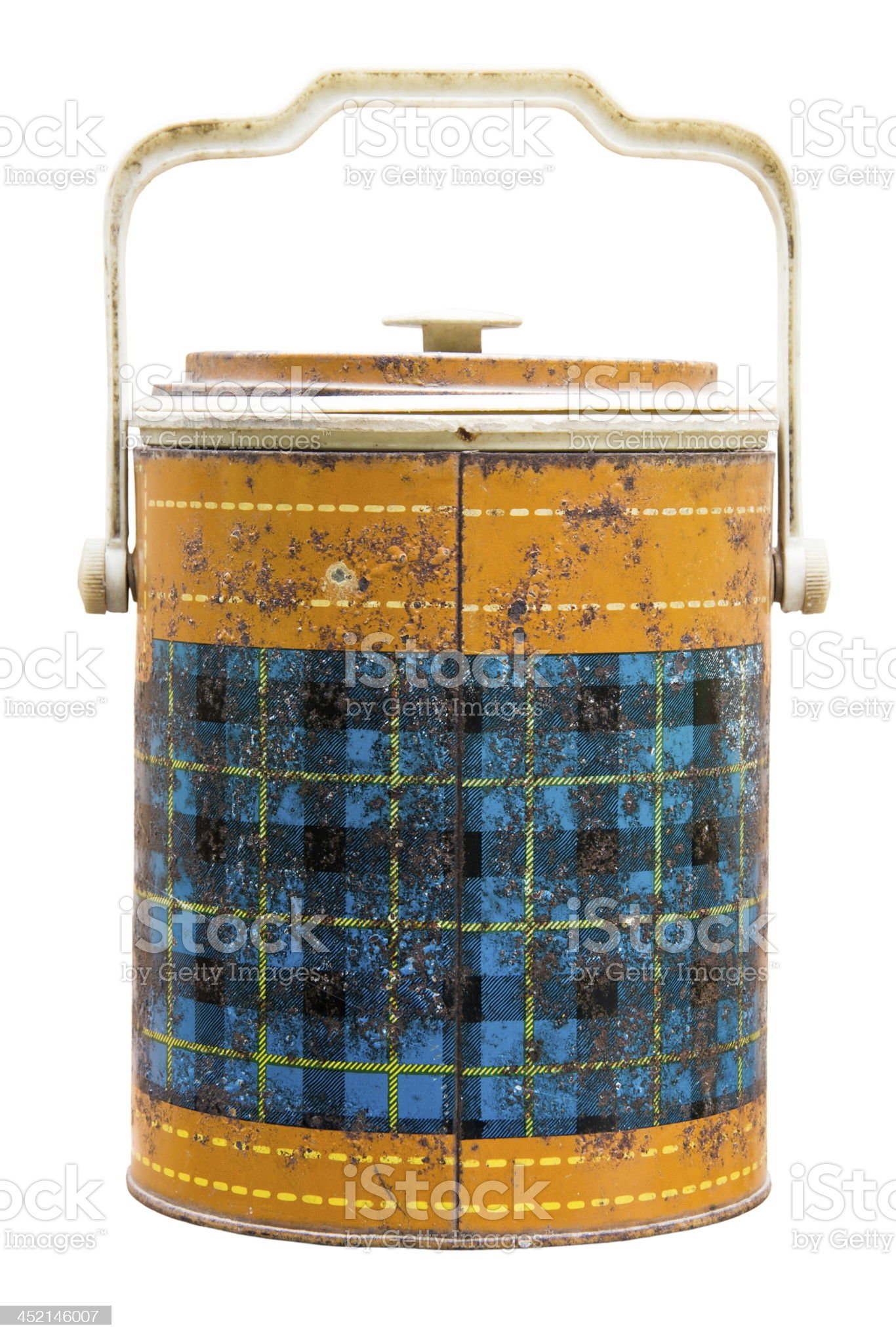 Antique ice bucket royalty-free stock photo