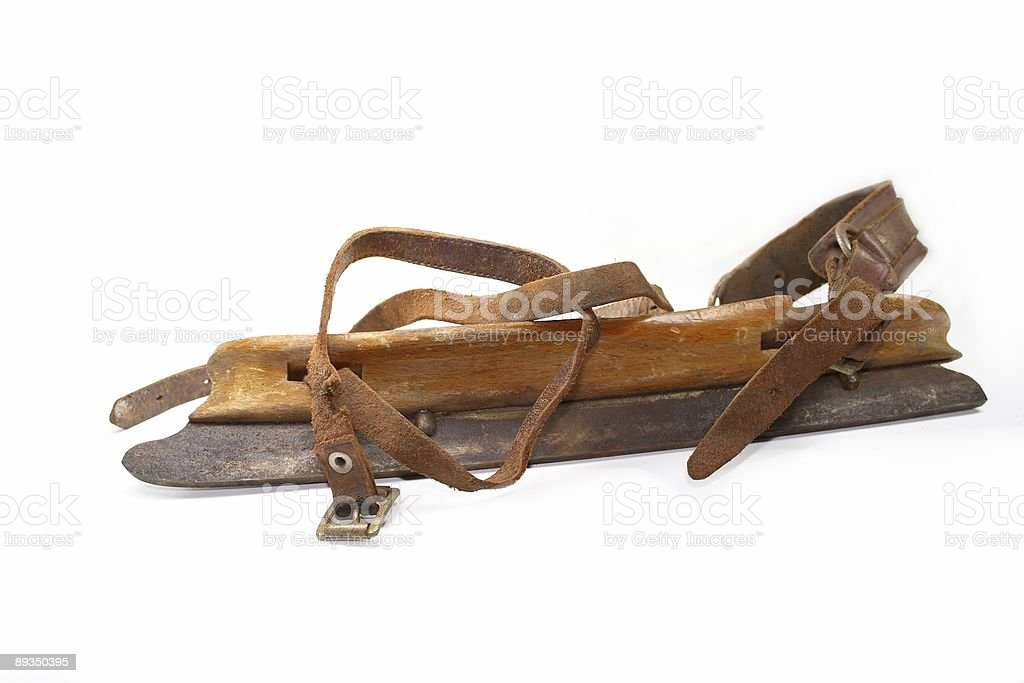 antique ice skate royalty-free stock photo
