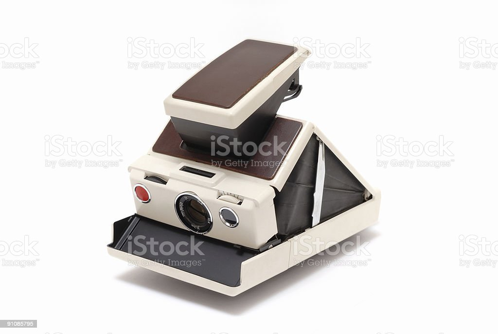 Antique instant camera royalty-free stock photo