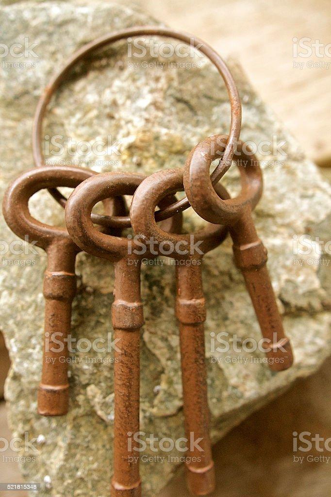 Antique Iron Keys stock photo