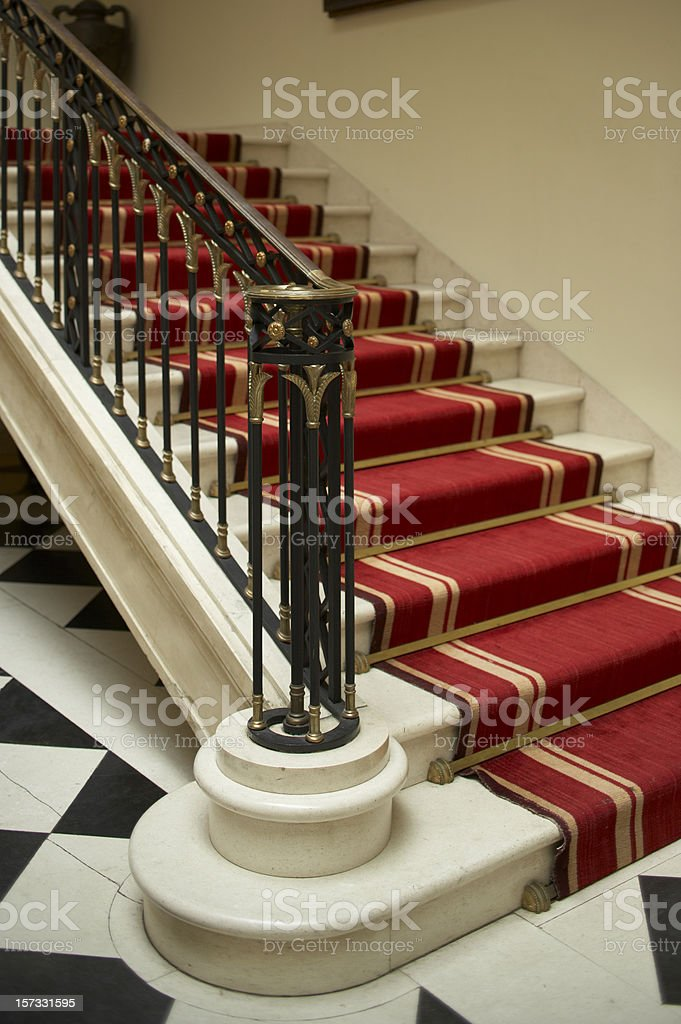 Antique Iron railing royalty-free stock photo