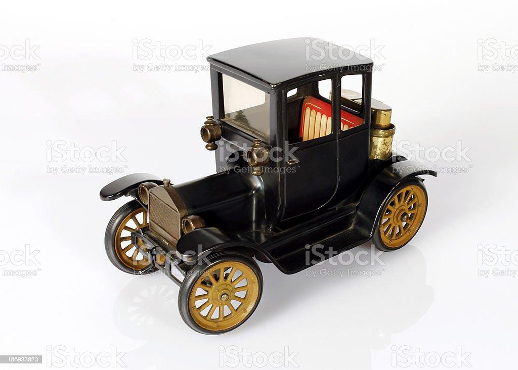 antique iron toy car stock photo