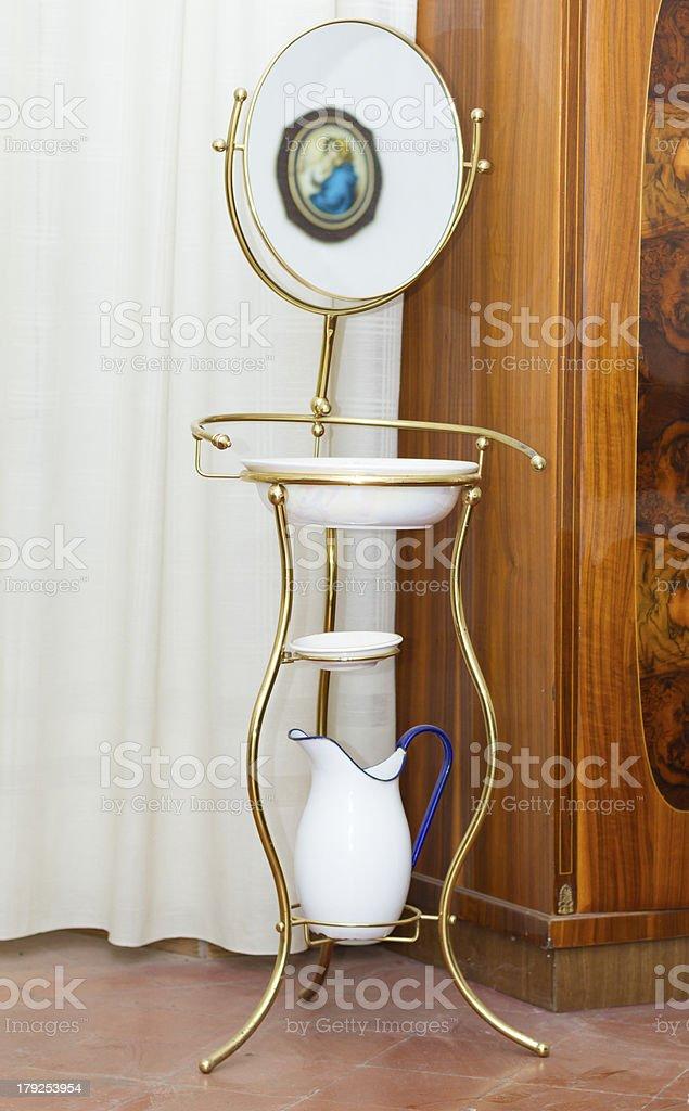 Antique italian sink royalty-free stock photo