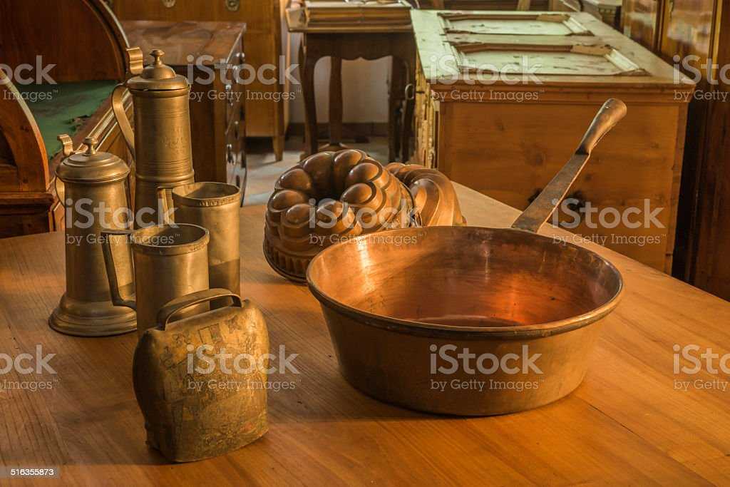 Antique Items from the Alps stock photo