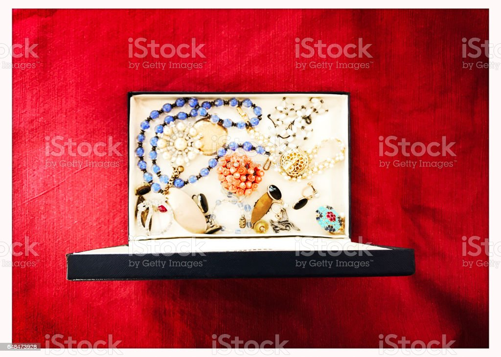Antique Jewelry Box from Above stock photo