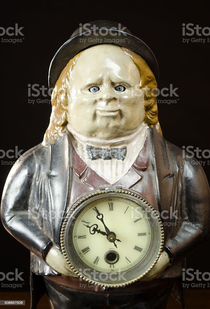 Antique John Bull 'Winker' Clock stock photo