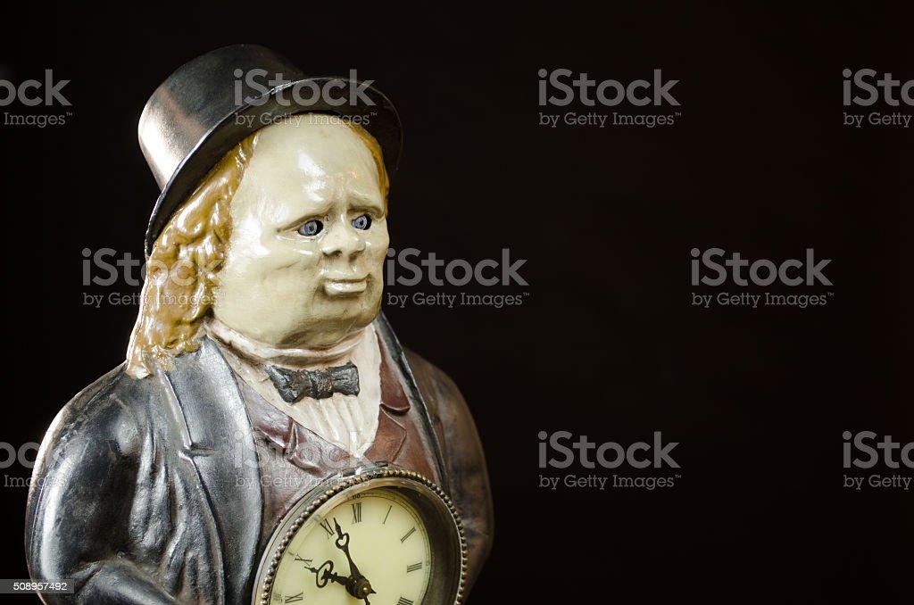 Antique John Bull 'Winker' Clock with Copyspace stock photo