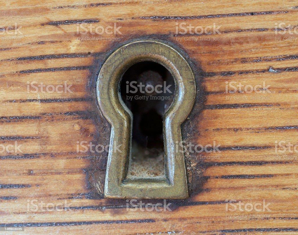 Antique Key Hole royalty-free stock photo