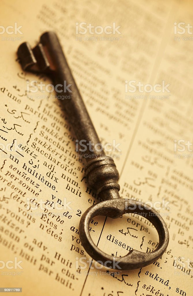 Antique Key royalty-free stock photo