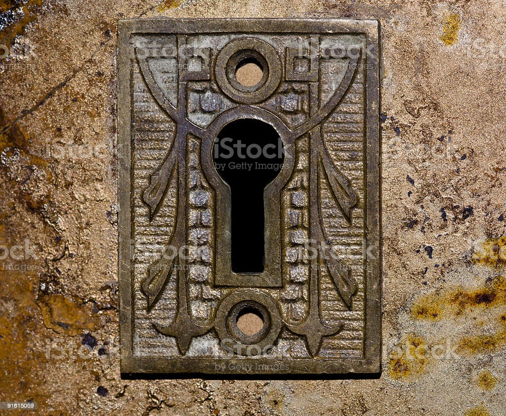 Antique keyhole stock photo